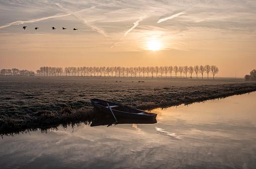 Polder「Winterochtend in de polder」:スマホ壁紙(7)