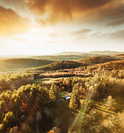 Hairpin Curve「autumnal landscape in Vermont」:スマホ壁紙(7)