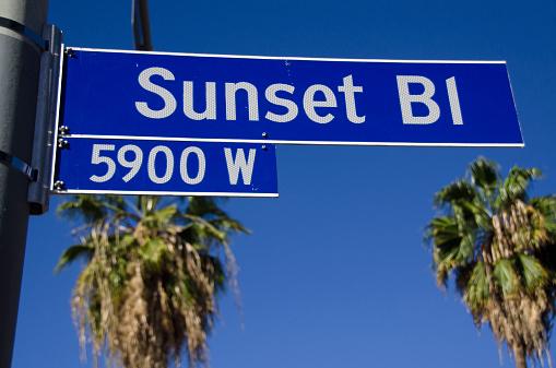 Boulevard「Sunset boulevard street sign」:スマホ壁紙(17)