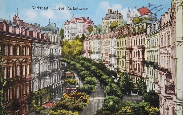 Health Spa「Carlsbad. Upper Park Road. 1924. Color Picture Postcard.」:写真・画像(9)[壁紙.com]