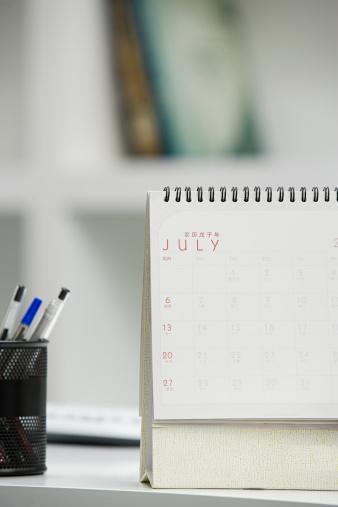 Calendar「Calendar on desk」:スマホ壁紙(12)