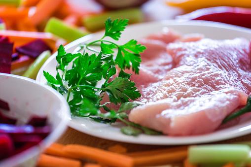 Turkey - Bird「Turkey breast steak at plate, close-up, back lit, no people」:スマホ壁紙(12)