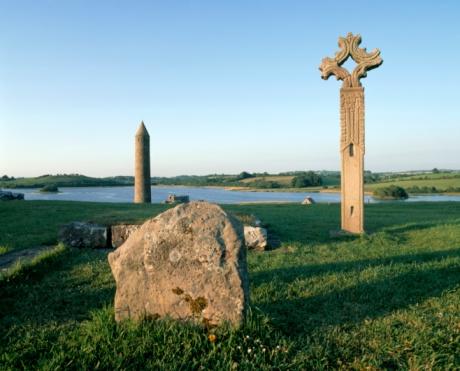 Abbey - Monastery「Devenish Monastic Site, Devenish Island, Lower Lough Erne, County Fermanagh, Ireland」:スマホ壁紙(6)