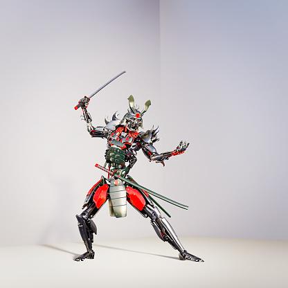 Battle「Samurai robot ready to fight」:スマホ壁紙(9)