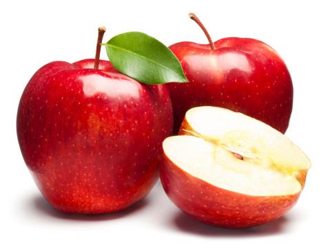 赤「赤いリンゴを新鮮な白背景」:スマホ壁紙(8)