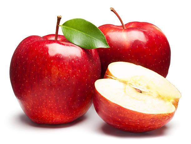 赤いリンゴを新鮮な白背景:スマホ壁紙(壁紙.com)