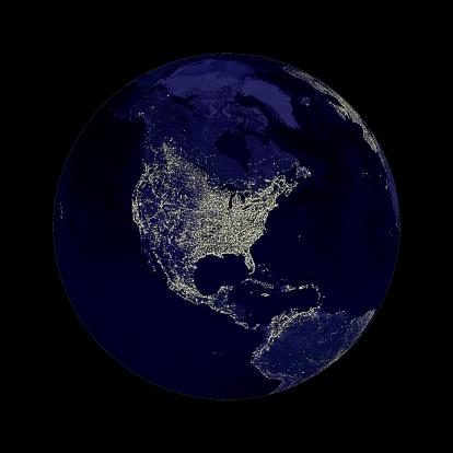Latitude「Earth globe lights」:スマホ壁紙(12)