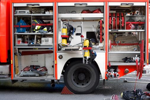 Hose「German firefighter truck in action」:スマホ壁紙(13)