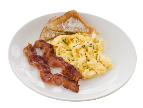 Bread「Plate of eggs, toast and bacon」:スマホ壁紙(0)