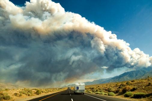 Deforestation「Forest Fire in the Sierra Mtns., Topaz Lake, CA. 」:スマホ壁紙(9)