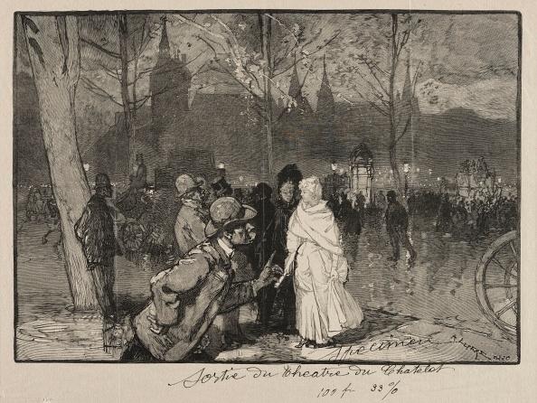 Chatelet Theatre「Sortie Du Théâtre Du Chatelet. Creator: Auguste Louis Lepère (French」:写真・画像(17)[壁紙.com]