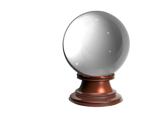 Fantasy「Crystal ball on white background」:スマホ壁紙(5)