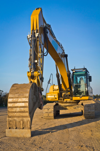 Construction Vehicle「Road construction equipment in Sunset」:スマホ壁紙(15)