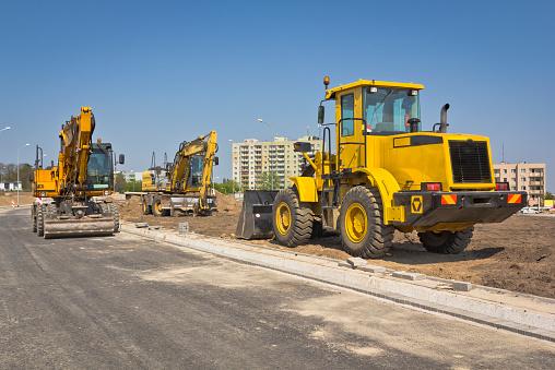 Construction Vehicle「Road construction machinery」:スマホ壁紙(10)