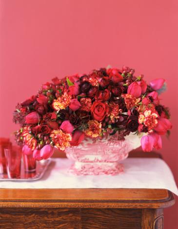 カーネーション「Red flower arrangement」:スマホ壁紙(0)