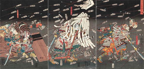 Woodcut「The Last Stand Of The Kusunoki At Shijonawate (Nanke Yushi Shijonawate Nite Uchijini)」:写真・画像(5)[壁紙.com]