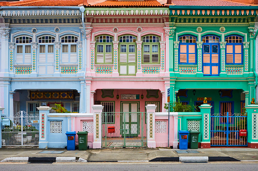 Pale Pink「Singapore, Peranakan houses in Euros District」:スマホ壁紙(16)