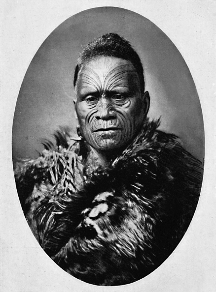 Tattoo「A Maori Chief With Elaborately Tattooed Face And Weather Cloak」:写真・画像(6)[壁紙.com]
