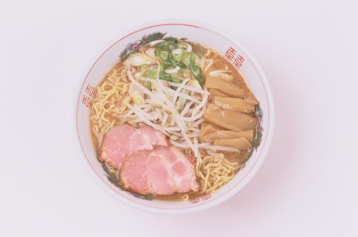 Miso Ramen「Miso ramen in bowl, overhead view」:スマホ壁紙(12)