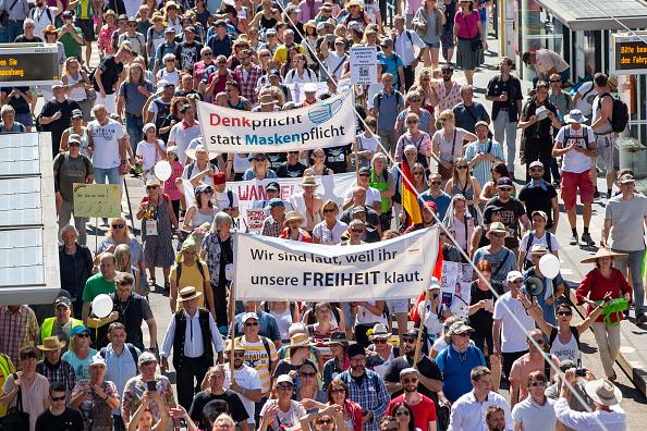 "Berlin「""Day Of Freedom"" Protest March In Berlin」:写真・画像(3)[壁紙.com]"