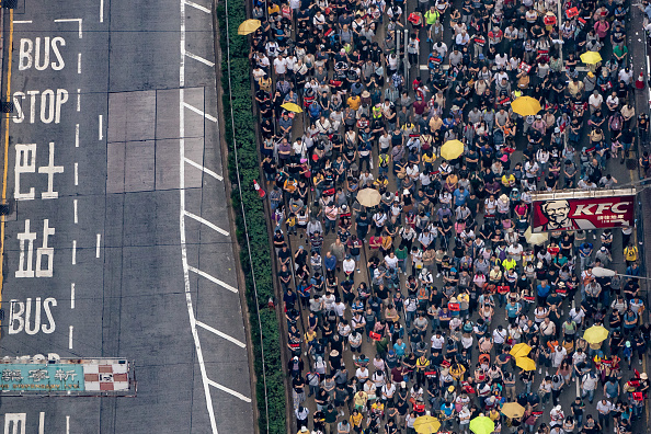 Protestor「Hong Kongers Protest Over China Extradition Law」:写真・画像(1)[壁紙.com]