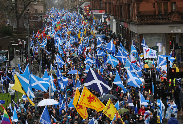 Glasgow - Scotland「Pro-Independence March In Glasgow」:写真・画像(7)[壁紙.com]