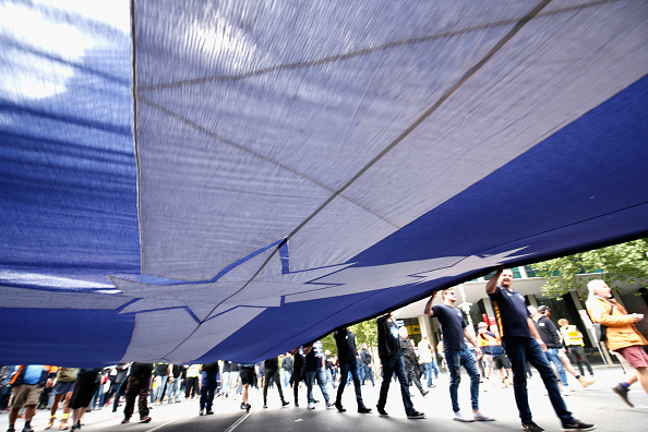 Darrian Traynor「Thousands March Through Melbourne CBD Calling For Better Wages」:写真・画像(5)[壁紙.com]