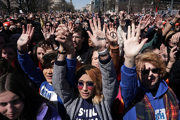 Washington DC「Hundreds Of Thousands Attend March For Our Lives In Washington DC」:写真・画像(18)[壁紙.com]