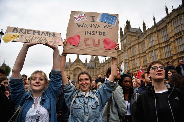 Brexit「Protestors Attend Anti-Brexit Rallys Across The UK」:写真・画像(18)[壁紙.com]