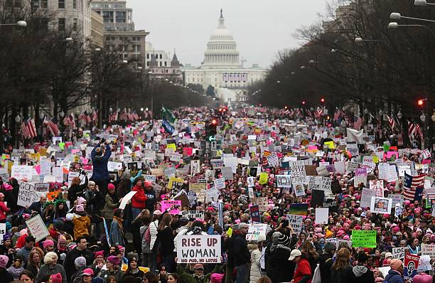 Thousands Attend Women's March On Washington:ニュース(壁紙.com)