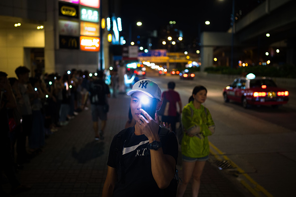 Mobile Phone「Unrest In Hong Kong During Anti-Government Protests」:写真・画像(7)[壁紙.com]