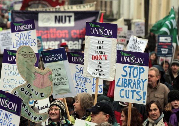 Politics「The Gloucestershire Anti Cuts Alliance Hold A demonstration Over The Spending Review」:写真・画像(10)[壁紙.com]