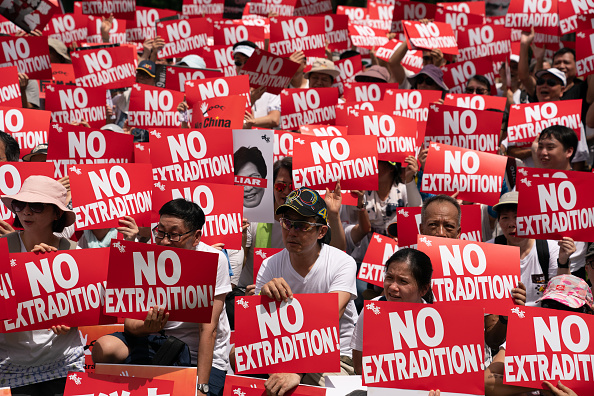Politics「Hong Kongers Protest Over China Extradition Law」:写真・画像(2)[壁紙.com]