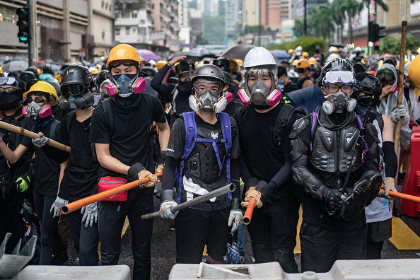Protestor「Unrest In Hong Kong During Anti-Government Protests」:写真・画像(9)[壁紙.com]