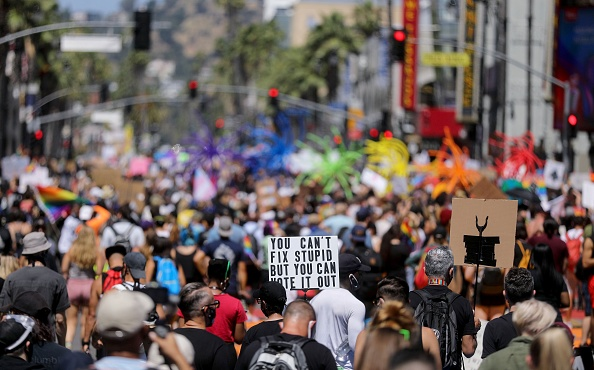 Hollywood - California「Protests Continue Across The Country In Reaction To Death Of George Floyd」:写真・画像(18)[壁紙.com]