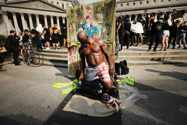 Protests Against Police Brutality Over Death Of George Floyd Continue In NYC:ニュース(壁紙.com)