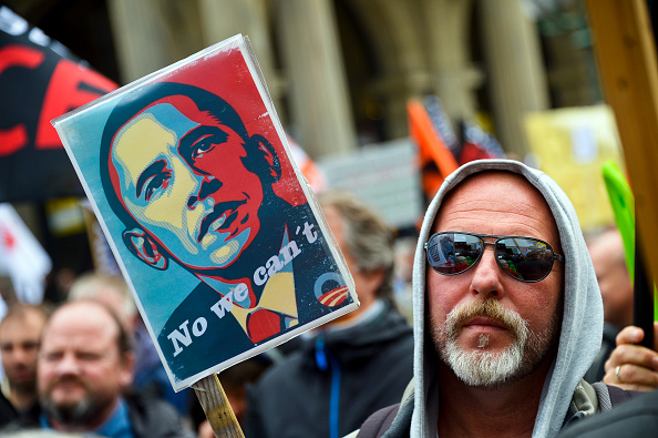 Free Trade Agreement「Anti-TTIP Protests On Eve Of Obama Visit」:写真・画像(2)[壁紙.com]