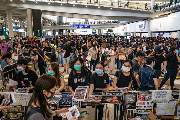 Hong Kong International Airport「Unrest In Hong Kong During Anti-Extradition Protests」:写真・画像(7)[壁紙.com]