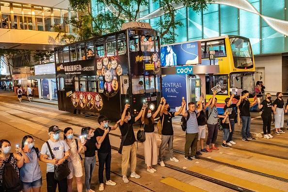 People In A Row「Unrest In Hong Kong During Anti-Government Protests」:写真・画像(0)[壁紙.com]