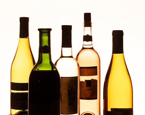 Abstract「Backlit bottles of wine」:スマホ壁紙(18)