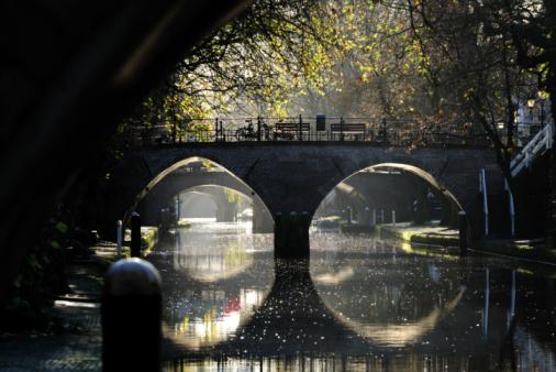 Utrecht「Ancient bridges over canal Oudegracht in Utrecht the Netherlands」:スマホ壁紙(6)