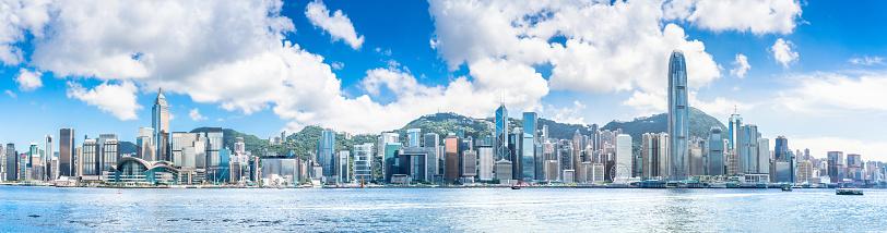 Urban Skyline「Hong Kong harbour view」:スマホ壁紙(5)