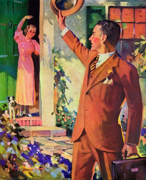 Husband「Businessman Waving To Wife」:写真・画像(14)[壁紙.com]