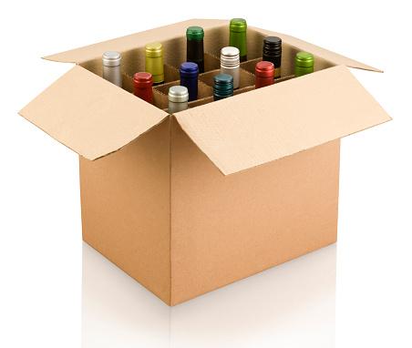 Wine Bottle「A box of multi-colored wine bottles」:スマホ壁紙(2)