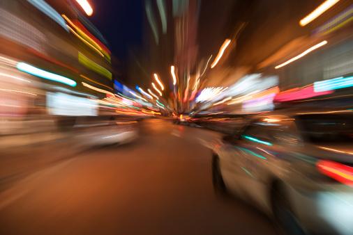 Emergency Services Occupation「Police car blur motion」:スマホ壁紙(6)