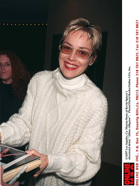 "1/14/97 Los Angeles, Ca Sharon Stone at Kevin Spacey's directorial debut ""Albino Alligator"":ニュース(壁紙.com)"