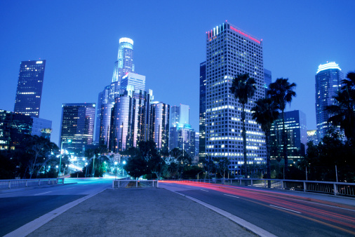 City Of Los Angeles「Los Angeles skyline at night」:スマホ壁紙(12)