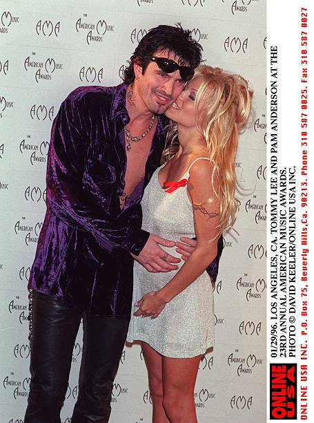Tommy Lee And Pam Anderson At The 23Rd Annual American Music Awards:ニュース(壁紙.com)