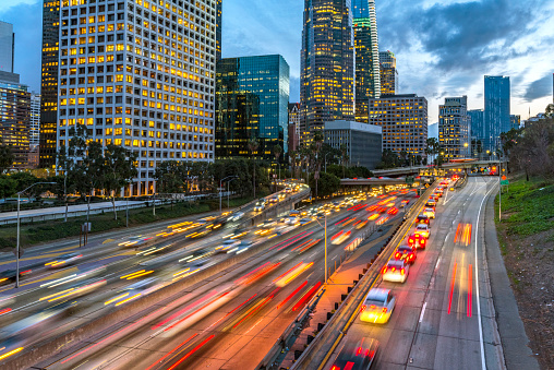 Elevated Road「Los Angeles Downtown Evening Traffic」:スマホ壁紙(13)