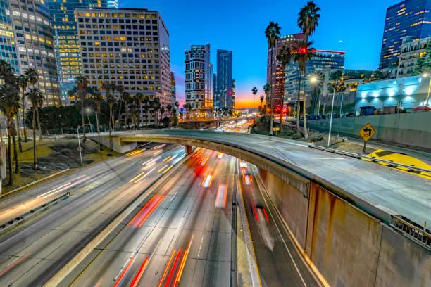 Los Angeles Downtown Evening Traffic:スマホ壁紙(壁紙.com)